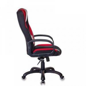 Кресло игровое VIKING-9/BL+RED черный/красный искусст.кожа/ткань