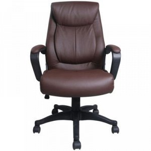 Кресло офисное BRABIX Enter EX-511, экокожа, коричневое
