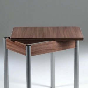 Стол ломберный 790(1180)х590х750,, металик серый/Ясень шимо темный