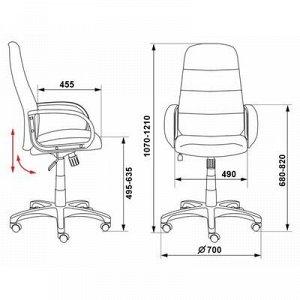 Кресло руководителя Бюрократ, черный, экокожа/сетка, CH-808AXSN/LBL+TW-11