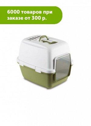 Туалет для кош CATHY Comfort (Happycat) закрытый с угольным фильтром и совком 58*45*48см