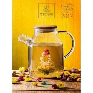 WILMAX Thermo Glass Заварочный чайник с деревянной крышкой 1600мл WL-888811/A