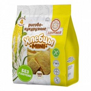 Завтраки сухие Хлебцы mini рисово-кукурузные 100 г