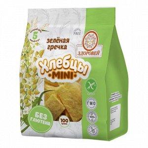 Завтраки сухие Хлебцы mini с зеленой гречкой 100 г