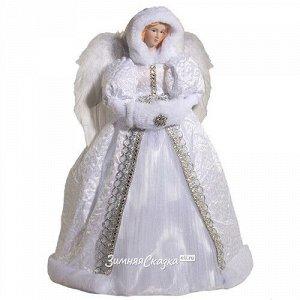Ангел в белоснежной шубе с муфтой 40 см (Holiday Classics)