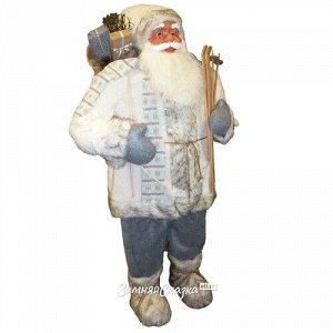Санта в овечьей шубе с подарками и лыжами 61 см (Peha)