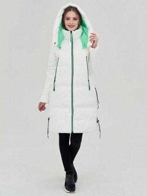 Пальто белый/зеленый S-L