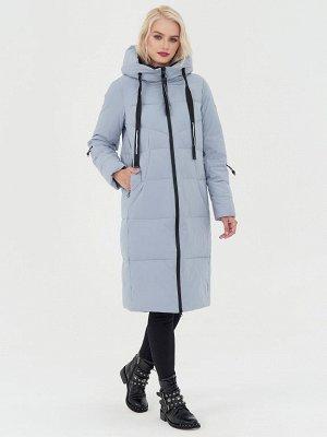 Пальто серо-голубой/черный S-XXL