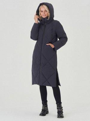 Пальто тем.синий S-XXL