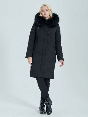 Пальто черный S-XXL