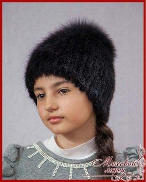 Сноп Лия чёрный + коричневый,чёрный,чёрный + сереброартикул: 907; мех: ондатра; подклад: трикотажная основа; украшения: блюфрост или песец; размеры: 52 - 58 «Лия»— чудесная шапочка с пушистым хохолко