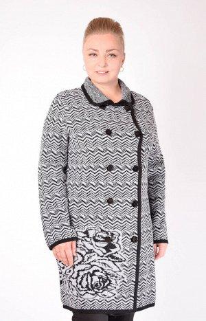 Пальто 1486серый