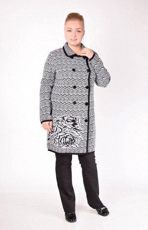 Пальто 1486  серый