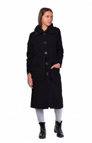 Пальто 1025в  черный