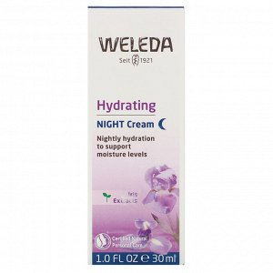 Weleda, Hydrating Night Cream, Iris Extracts, 1.0 fl oz (30 ml)