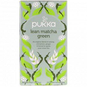Pukka Herbs, Зеленый чай матча для стройности, 20 пакетиков травяного чая, 1,05 унц. (30 г)