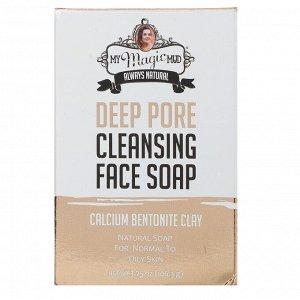 My Magic Mud, Deep Pore Cleansing Face Soap, Calcium Bentonite Clay, 3.75 oz (106.3 g)