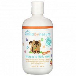 Mild By Nature, детский шампунь и гель для душа «без слез», с ароматом персика, 380 мл (12,85 жидк. унции)