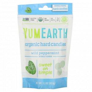 YumEarth, Органические леденцы, дикая мята, 93,6 г (3,3 унции)