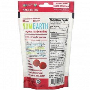 YumEarth, Органические леденцы, гранатовый пакер, 3,3 унции (93,6 г)