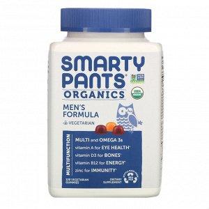 SmartyPants, Органическое средство для мужчин, 120 вегетарианских жевательных таблеток