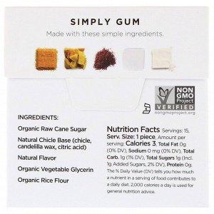 Simply Gum, Жевательная резинка, Натуральный кофе, 15 штук