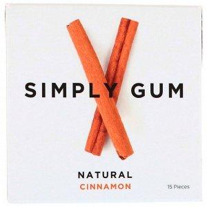 Simply Gum, Жевательная резинка, Натуральная корица, 15 штук
