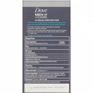 Dove, Men+Care, дезодорант-антиперспирант, клиническая защита, «Чистый комфорт», 48 г (1,7 унции)