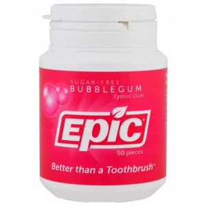 Epic Dental, Жевательная резинка с ксилитом, без сахара, жевательная резинка, 50 шт.