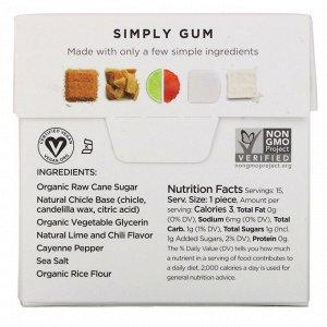 Simply Gum, Revive, Lime, Chill, Sea Salt, 15 Pieces