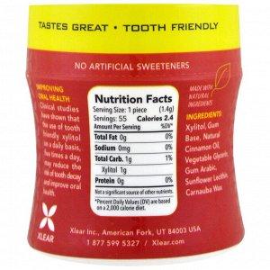 Xlear, Xlear, Spry, защитная жевательная резинка Stronger Longer, натуральная корица, не содержит сахара, 55 шт.