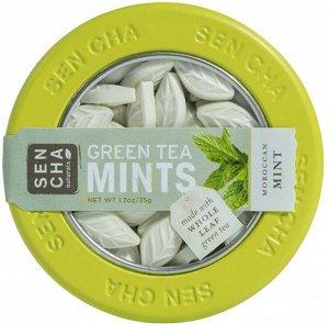Sencha Naturals, Мятные леденцы с зеленым чаем, марокканские мятные леденцы, 1,2 унции (35 г)