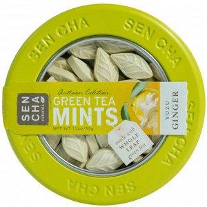Sencha Naturals, Мятные леденцы со вкусом зеленого чая, имбиря и юдзу, 1,2 унции (35 г)