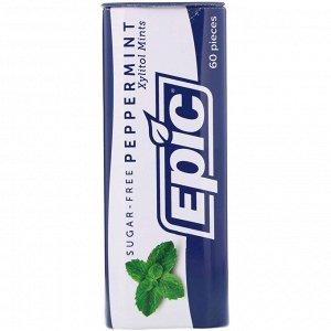 Epic Dental, 100% Подслащенный ксилит, Конфеты с мятой перечной, Без сахара, 30 г