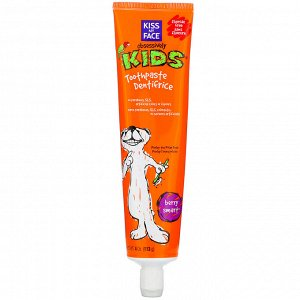 Kiss My Face, Obsessively Kids, Toothpaste, Fluoride Free, Berry Smart, 4 oz (113 g)