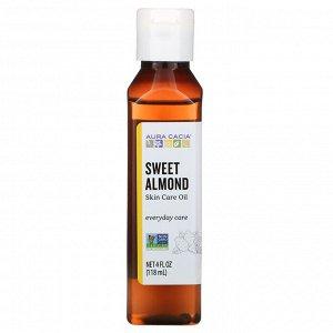 Aura Cacia, масло для тела, сладкий миндаль, 118 мл (4 жидк. унции)