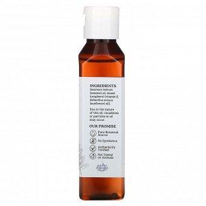 Aura Cacia, Масло для натурального ухода за кожей, кунжутная защита, 4 жидких унции (118 мл)