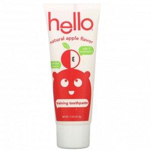 Hello, Training Toothpaste, Fluoride Free, Natural Apple Flavor, 1.5 oz (42.5 g)