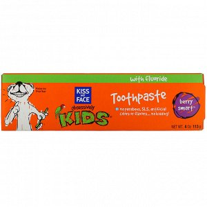 Kiss My Face, Obsessively Kids, Toothpaste, Berry Smart, 4 oz (113 g)