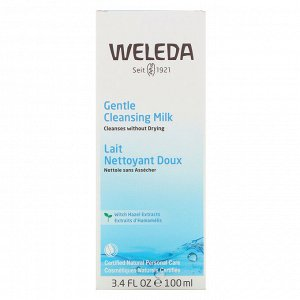 Weleda, Gentle Cleansing Milk, Witch Hazel Extracts, 3.4 fl oz (100 ml)