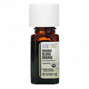 Aura Cacia, Чистое эфирное масло, органический красный апельсин, 7,4 мл (0,25 жидк. унции)