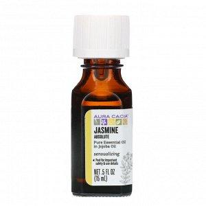 Aura Cacia, чистое эфирное масло, абсолю жасмина, 15 мл (0,5 жидк. унции)