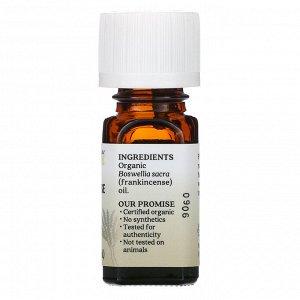 Aura Cacia, чистое эфирное масло, органический ладан, 7,4 мл (0,25 жидк. унции)