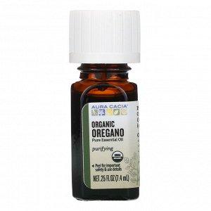 Aura Cacia, чистое эфирное масло, органический орегано, 7,4 мл (0,25 жидк. унции)