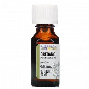 Aura Cacia, чистое эфирное масло, орегано, 15 мл (0,5 жидк. унции)