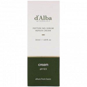 D&#x27 - Alba, Peptide No-Sebum, Repair Cream, 1.69 fl oz (50 ml)