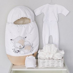 """Конверт для новорожденного """"Леснушки"""", зимний, бежевый"""