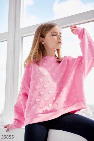 Трендовый розовый свитшот для девочки