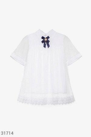 Эффектная двойная блуза