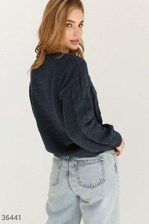 Хлопковый джемпер в джинсовом оттенке